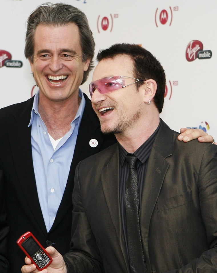 Image: Product (Red) co-founders Bobby Shriver and Bono