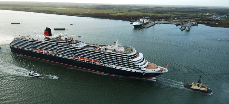 Image: Queen Victoria's Arrival in Southampton 7th December 2007