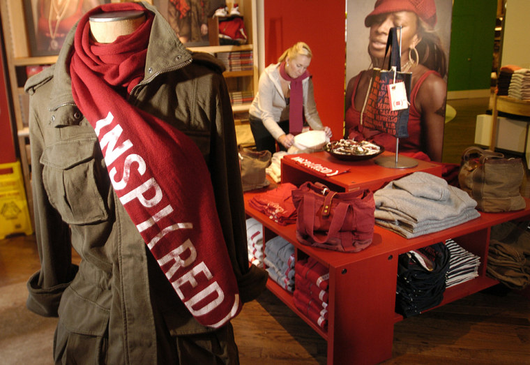 Image: Product (Red) merchandise display