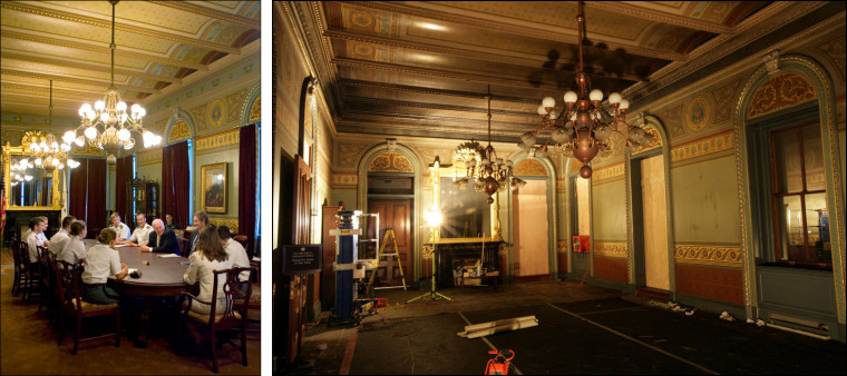 Image: Before and after shots from White House fire