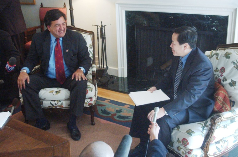 Image: NM Governor Richardson Meets With North Korean Envoys