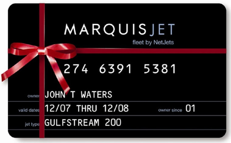 Image: Marquis Jet card