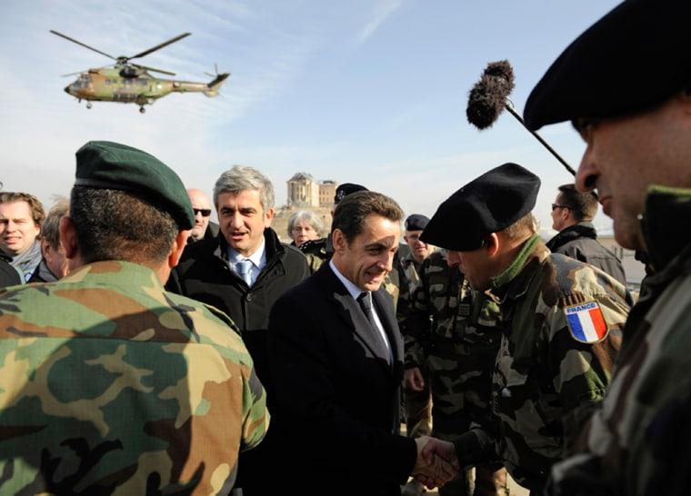 Image: Nicolas Sarkozy in Afghanistan