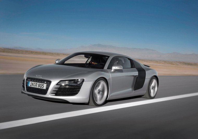 For a relatively low price of $109,000, the Audi R8 can go from 0 to 60 mph in 4.4 seconds and achieve a top speed of 187 mph.