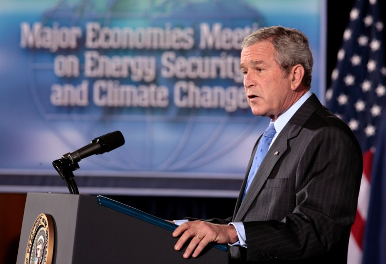 Image: U.S. President George W. Bush speaks at the Major Economies Meeting on Energy Security and Climate Change at the U.S. State Department in Washington, D.C.