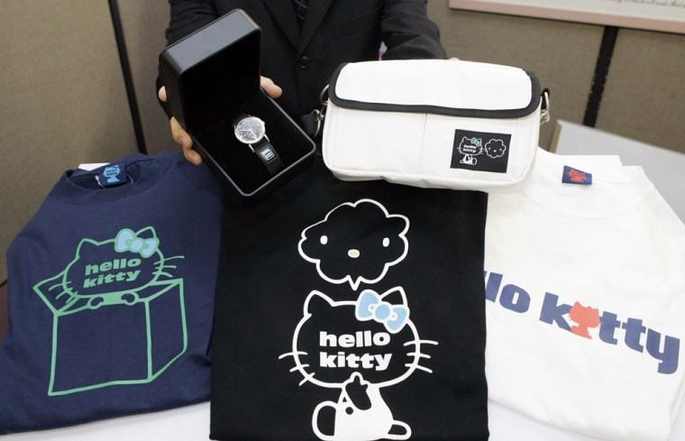 The feline for-men products will go on sale in Japan next month, and will be sold soon in the U.S. and other Asian nations, according to Sanrio.