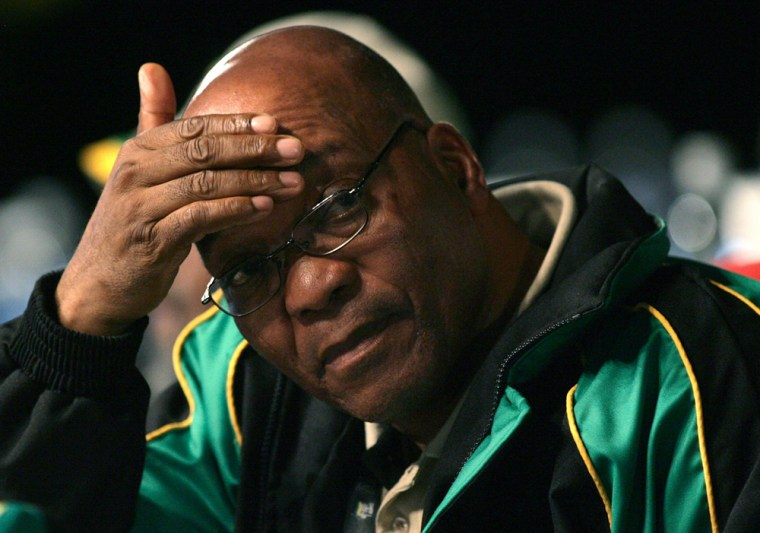 Image: ANC President Jacob Zuma looks on before delivering his first address since his election on the last day of a leadership conference in Polokwane