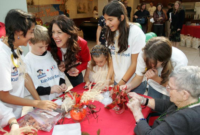 Image: Quaker Oatmeal kids, philanthropy