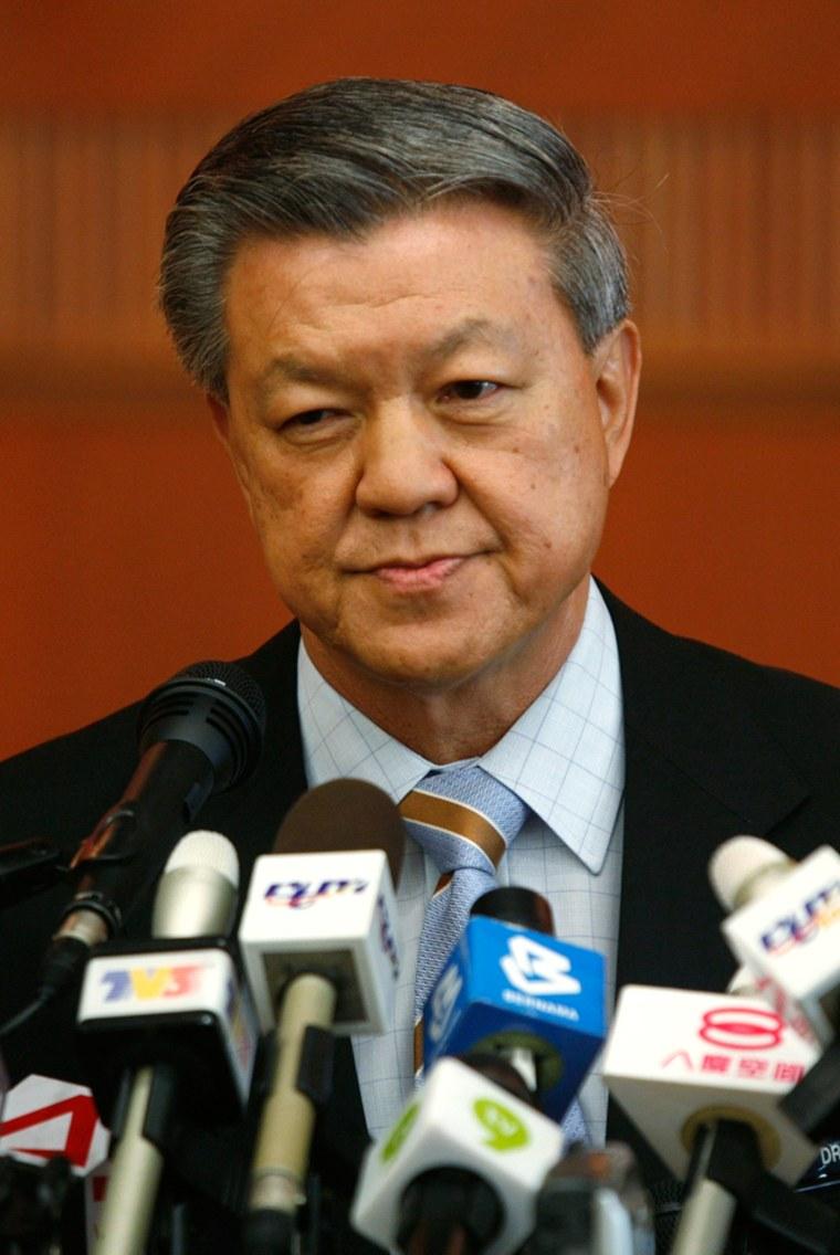Image: Malaysia's Health Minister Chua Soi Lek