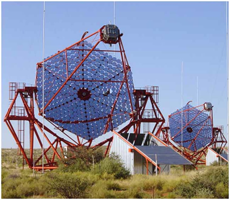 Image: telescopes in Namibia, in South-West Africa