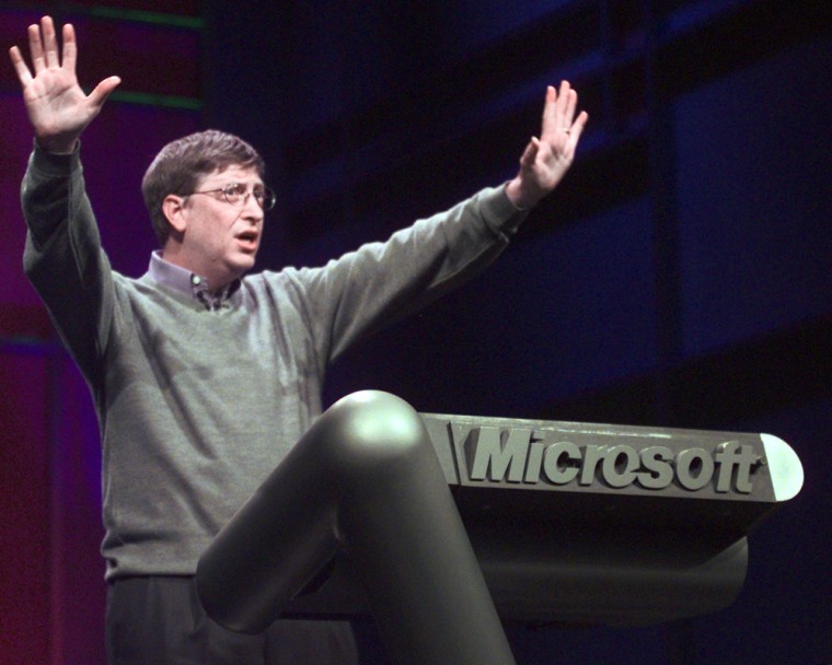 Image: Bill Gates Chairman and CEO of Microsoft gives the Consumer Electronics Show keynote address