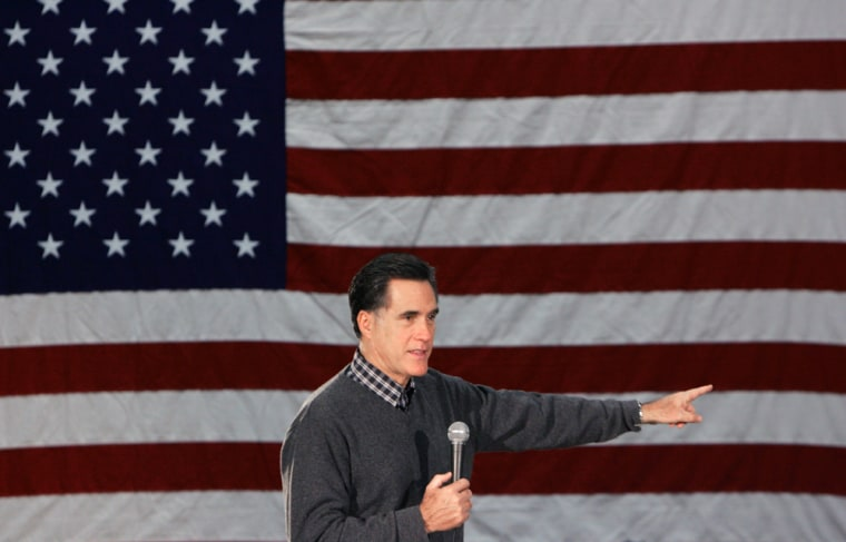 Image: Republican presidential hopeful, former Massachusetts Gov. Mitt Romney.