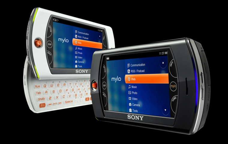 Image: Sony shows their Mylo wireless messaging device.