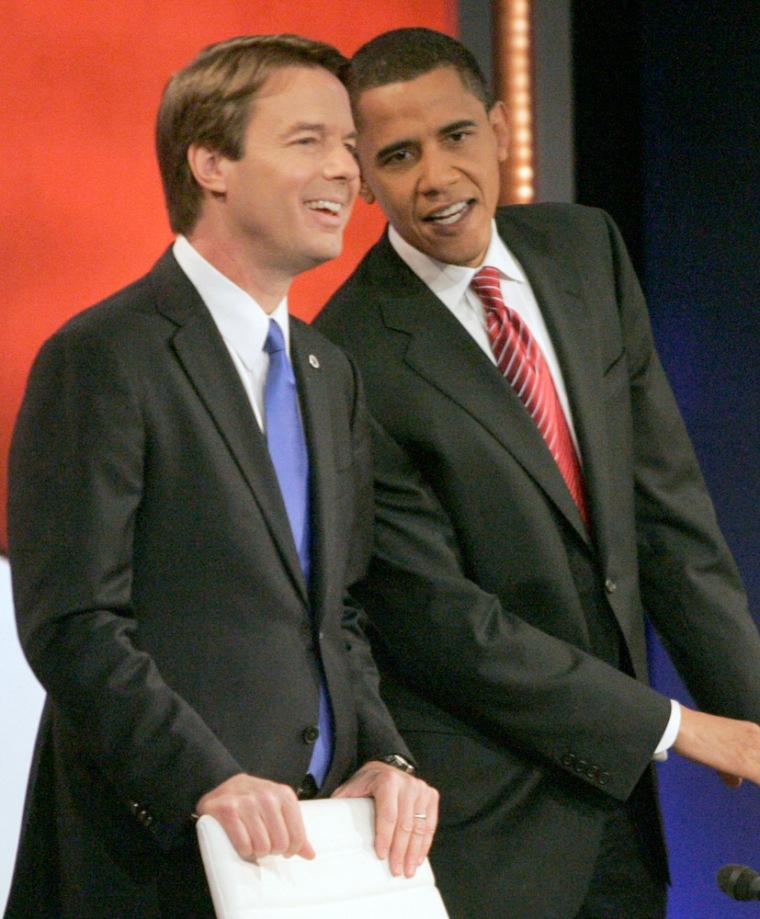 Image: John Edwards, Barack Obama
