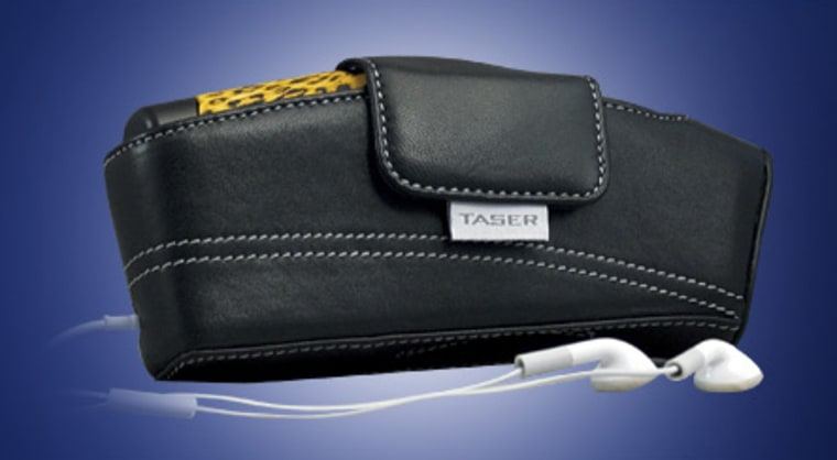 Image: taser and holster with mp3 player