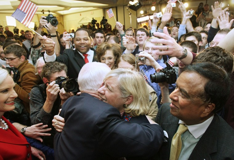 Image: John McCain and supporters