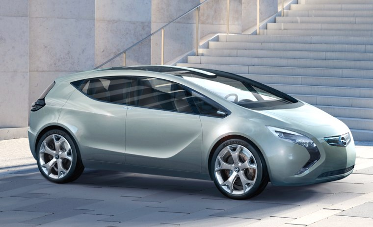 The Saturn Flextreme concept — a hybrid-electric car that's expected to look like the Opel's Flextreme concept car (shown here) — will be on display at the Detroit auto show, which gets under way this Sunday.