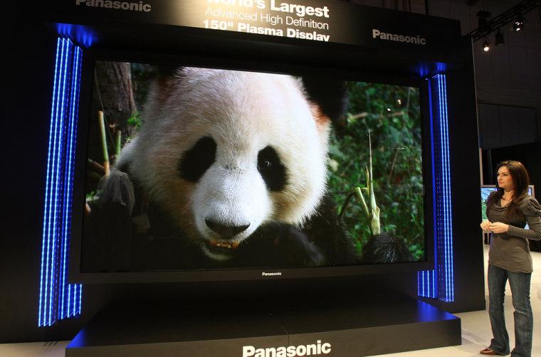 Image: Panasonic displays it's 150 inch HD plasma