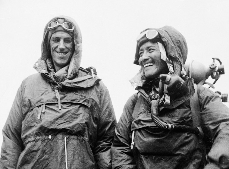 Image: Edmund P. Hillary of New Zealand and Sardar Tenzing Norgay of Nepal.