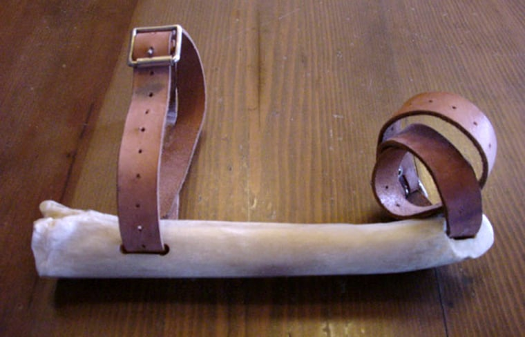 Image: A replica of the first ancient bone skates, created by the scientists to perform their experiments.