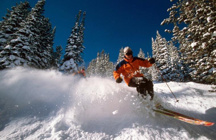 Image: skiing at Jackson Hole, Wyoming