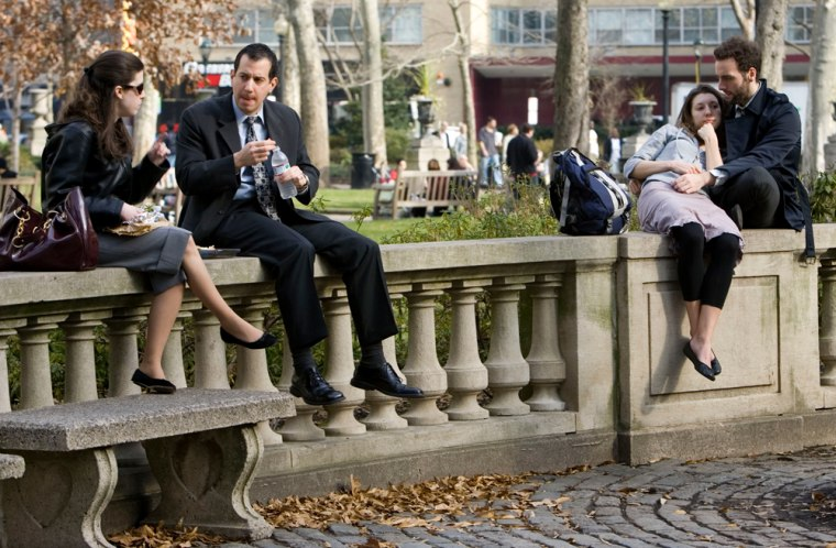Image: People are seen midday at Rittenhouse Square in Philadelphia.