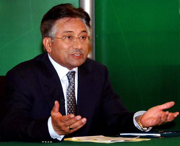 Image: Pakistani President Pervez Musharraf