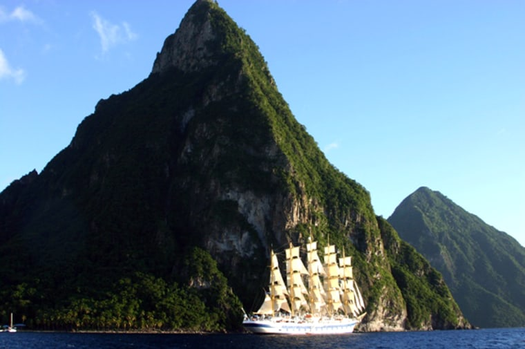 Based on the last tall ship of its kind, Preussen, which was launched in 1902, the 227-passenger Royal Clipper is the world's only five-masted, fully rigged sailing ship, and the largest in the Star Clipper fleet.