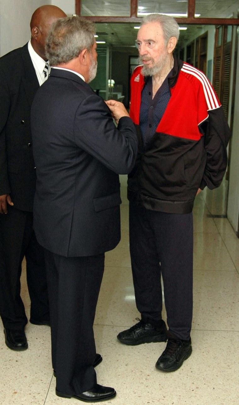 Image: Fidel Castro and Luiz Inacio Lula Da Silva