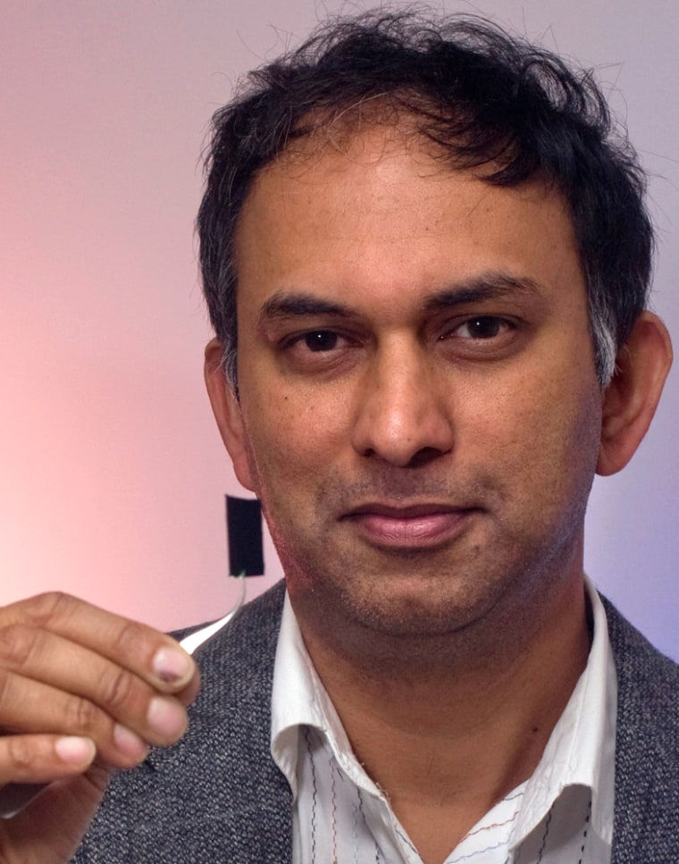 Image: Pulickel Ajayan of Rice University holds the darkest material in the world