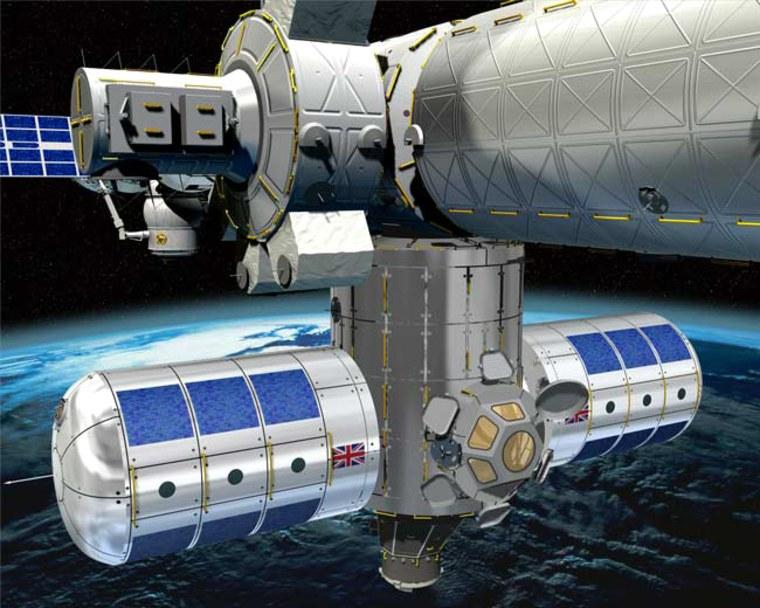Image: An artist's impression of the Habitation Extension Module (HEM)