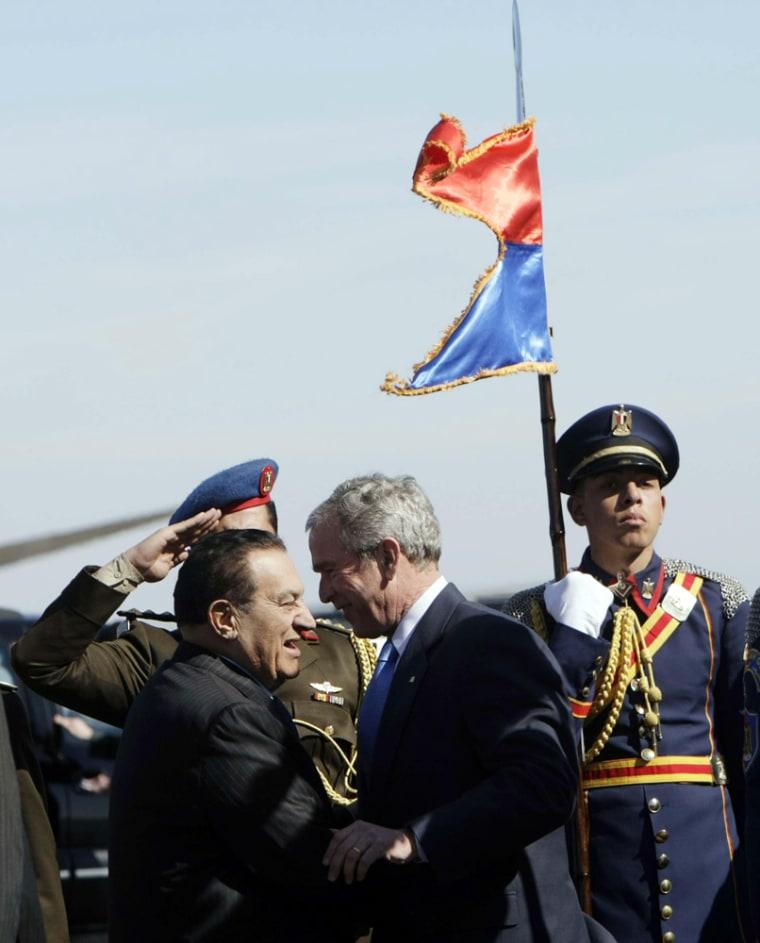 George W. Bush, Hosni Mubarak,