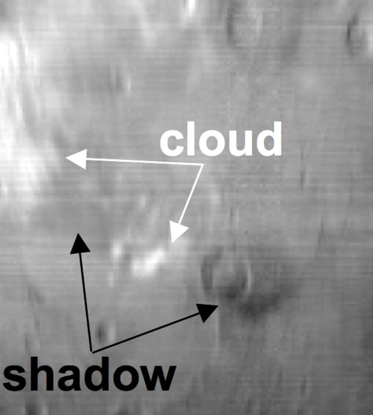 Image: Martian cloud and shadow