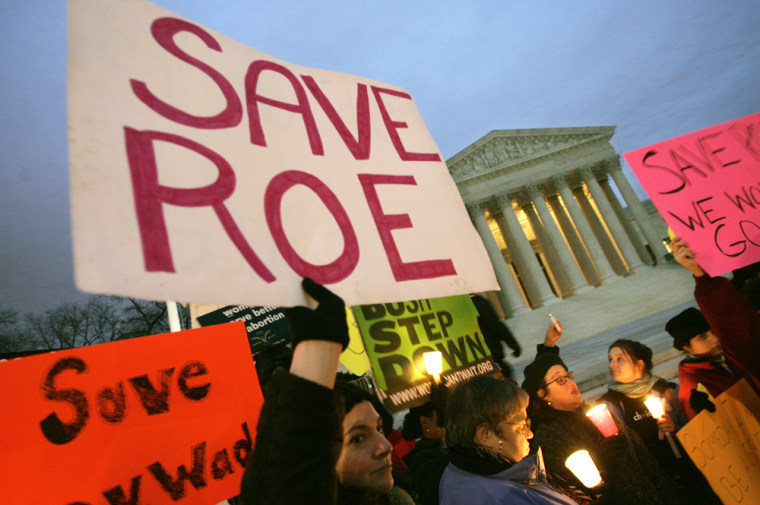 File Image: Pro-choice supporters hold a candlelight vigil infront of the Supreme Court Building