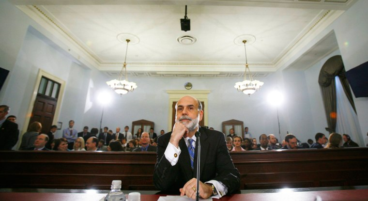 Image: US Chairman of the Federal Reserve Ben Bernanke at House Budget Committee on Capitol Hill