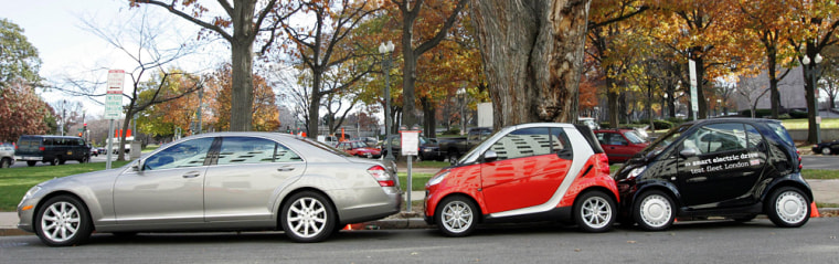Image: Smart cars parked on street
