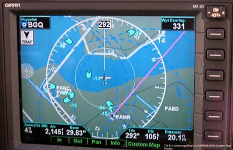 Image: ADS-B displays in the cockpit