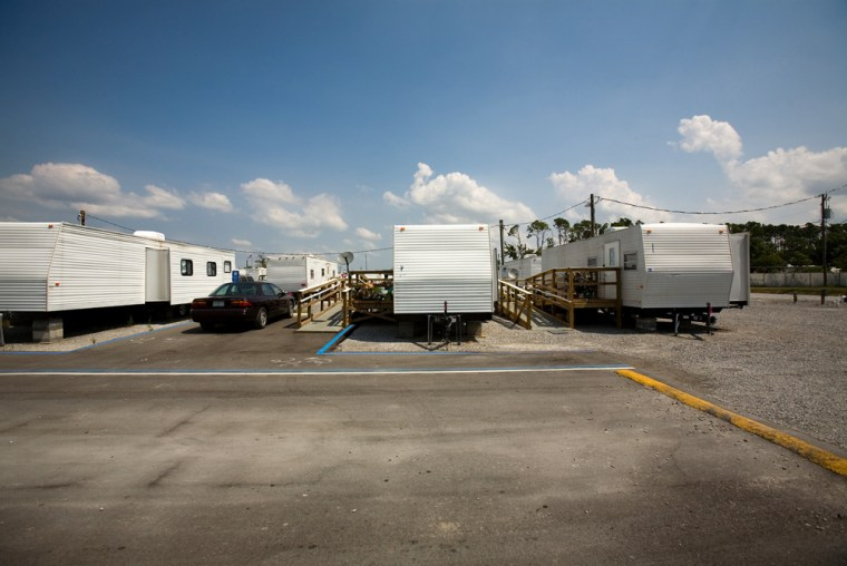 Image: FEMA trailers at a park in Bay St. Louis.