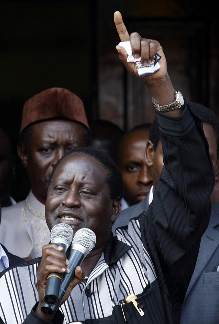 Image: Kenyan opposition challenger Raila Odinga