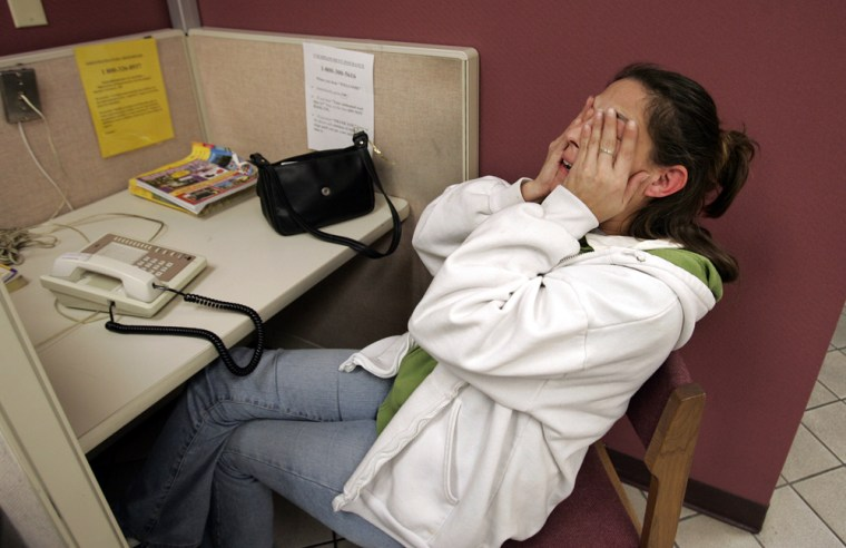Image: Unemployed worker Tracy Nikitas