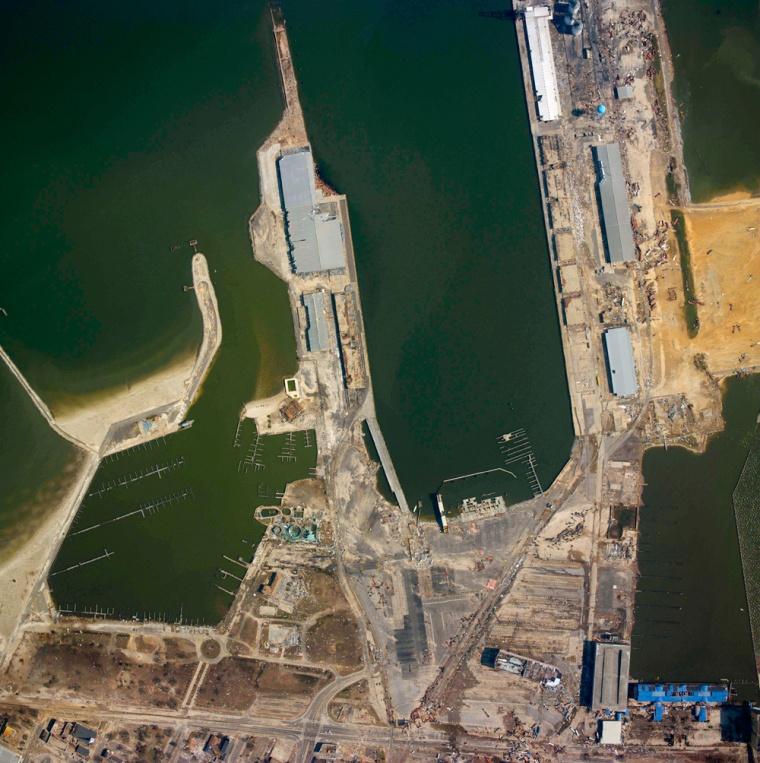 Image: port at Gulfport Mississippi