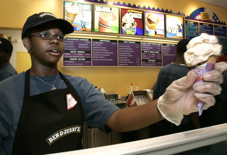 Image:  Ben & Jerry ice cream shop.