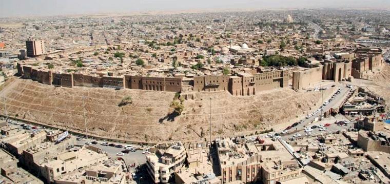 Image: citadel in Irbil, Iraq.