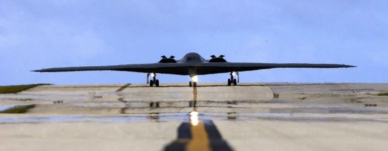 Image: Stealth bomber at Andersen Air Force Base, Guam