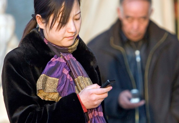 Image: Text messaging; Mobile phones