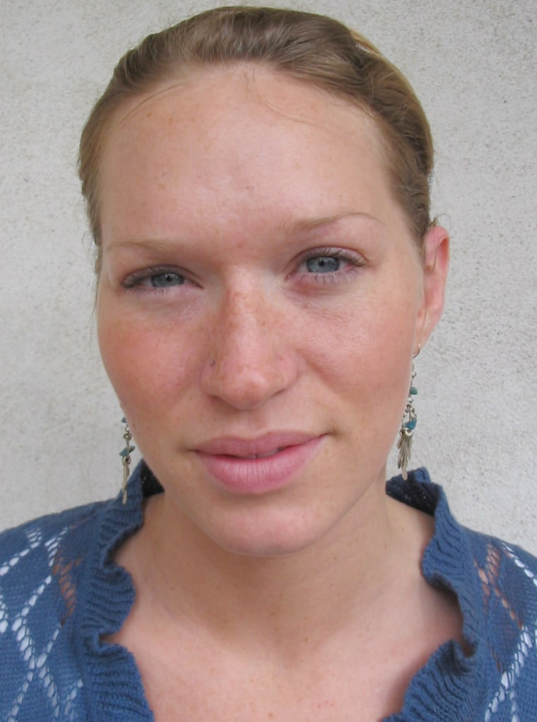 Katie Roberts, a Greenville, S.C. interior designer, voted for Sen. Barack Obama Saturday