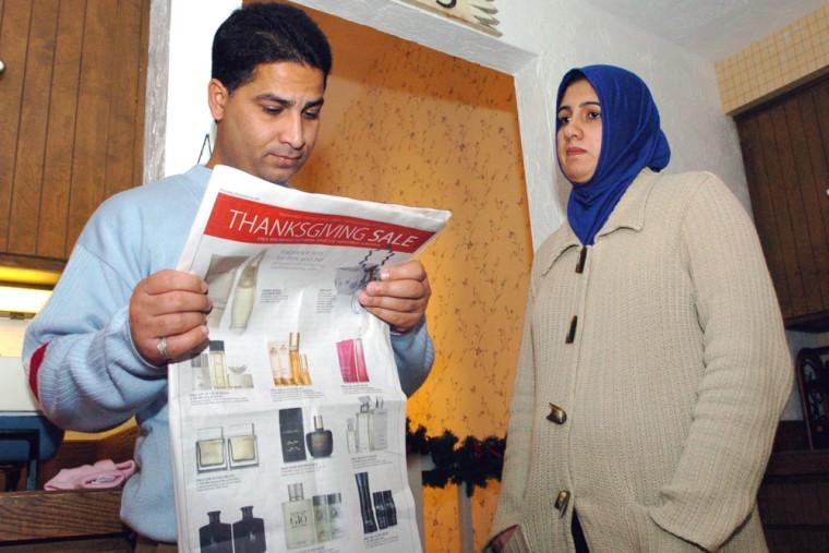 Image: Iraqi interpreter Kamal Murad and his wife Bushra Murad in Salem, Ore.