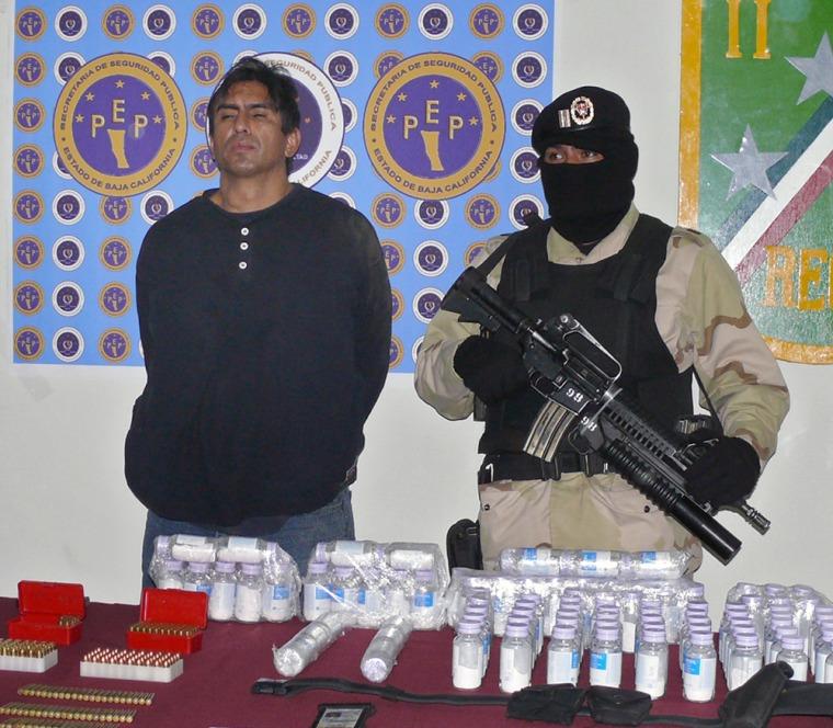 "Image: Alfredo Araujo, also known as ""El Popeye,"" after capture"