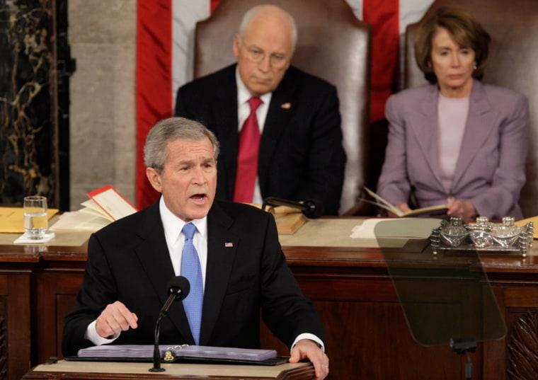 Image: George W. Bush, Dick Cheney, Nancy Pelosi
