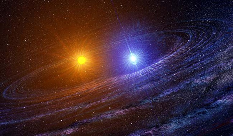 Image: Artist concept of the RS Ophiuchi binary system